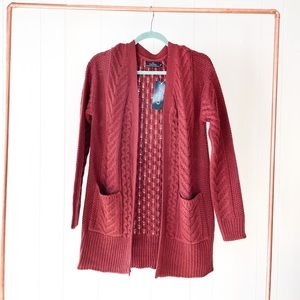 NWT Merlot Knit Cardigan